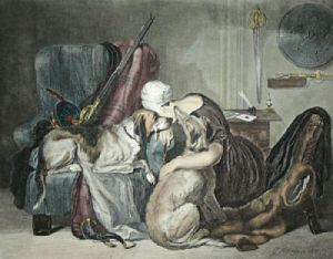 The Widow (Restrike Etching) by Charles Hancock