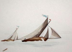 Swallow (Restrike Etching) by W.J. Huggins
