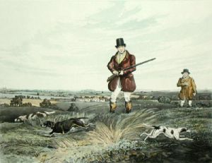 Partridge Shooting PL. I (Restrike Etching) by Henry Alken