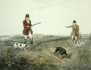 Partridge Shooting PL. II (Restrike Etching) by Henry Alken