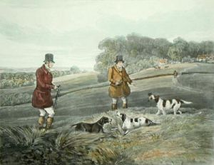 Partridge Shooting PL. IV (Restrike Etching) by Henry Alken