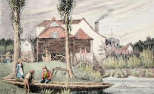 Oxford, Iffley Mill (Restrike Etching) by Frederick Miller
