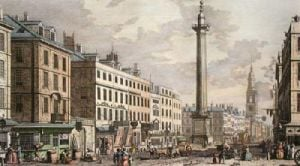 Monument (1666 Great Fire) (Restrike Etching) by Giovanni Canaletto