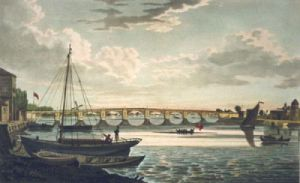 Vauxhall Iron Bridge (Restrike Etching) by Anonymous