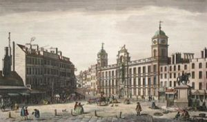 Northumberland House (Restrike Etching) by Giovanni Canaletto