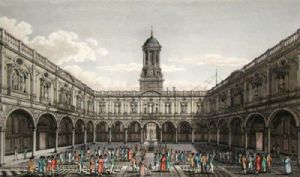 Interior of the Royal Exchange (Restrike Etching) by Anonymous