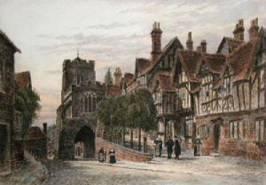 Warwick, Leycester Hopital (Restrike Etching) by Anonymous