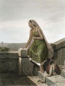 Young African (Restrike Etching) by Vallou de Villeneuve