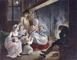 Winter - Bartolozzi (Restrike Etching) by William Hamilton