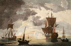 Sunsetting (Restrike Etching) by Willem Van de Velde