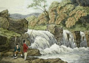 Fly Fishing (Restrike Etching) by Samuel Howitt