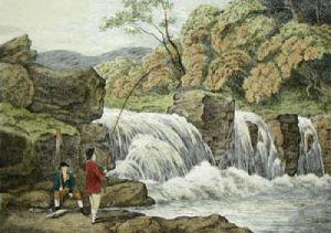 Fly Fishing (Restrike Etching) by Samuel Howitt