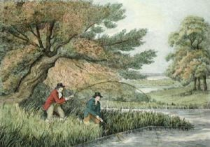 Pike Fishing (Restrike Etching) by Samuel Howitt