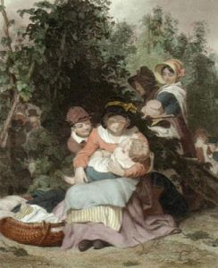 Hop Pickers (Restrike Etching) by William Frederick Witherington