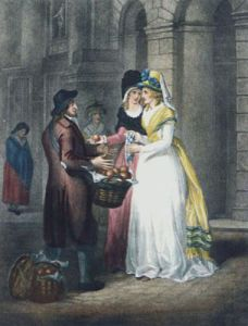London Cries, Oranges (Restrike Etching) by Francis Wheatley