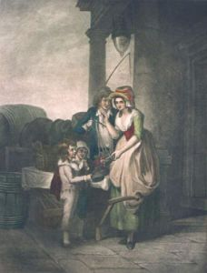 London Cries, Cherries (Restrike Etching) by Francis Wheatley