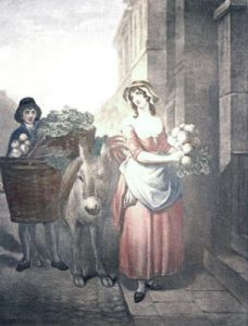 London Cries, Turnips (Restrike Etching) by Francis Wheatley