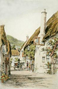 Porlock, Somerset (Restrike Etching) by Anonymous