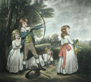 A Practice Shot (Archery) (Restrike Etching) by Anonymous