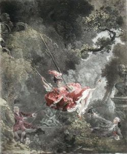 The Swing (Small) (Restrike Etching) by Jean-Honoré Fragonard