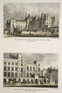 Westminster HOC,HOL (Restrike Etching) by Thomas H. Shepherd