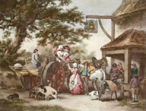 Return from market (Restrike Etching) by George Morland