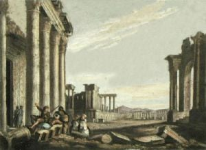 Ruins of Palmyra (Restrike Etching) by Anonymous