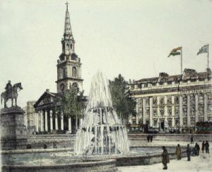 St. Martins in the Fields (Restrike Etching) by Anonymous