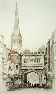 Salisbury, 1936 (Restrike Etching) by Anonymous