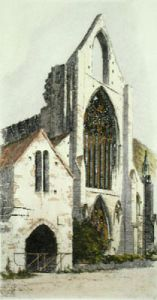 Tintern Abbey (Restrike Etching) by Anonymous