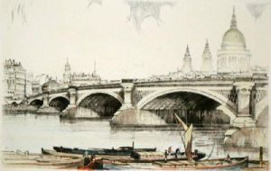 London Bridge (Restrike Etching) by Anonymous