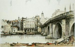Blackfriars Bridge (Restrike Etching) by Anonymous