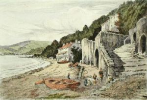 Clovelly, Devon (Restrike Etching) by Anonymous