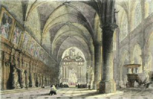 Antwerp Church of St Paul's (Restrike Etching) by Thomas Allom