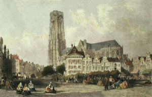 The Cathedral of Malines (Restrike Etching) by Thomas Allom