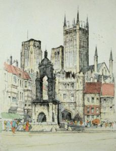 Wells, Somerset (Restrike Etching) by Anonymous