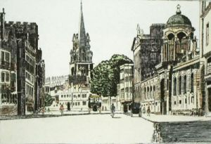 Oxford, High Street (Restrike Etching) by Anonymous