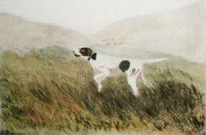 Pointer (Restrike Etching) by Anonymous