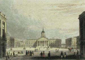 Brussels, Place Royale (Restrike Etching) by J. Fussell