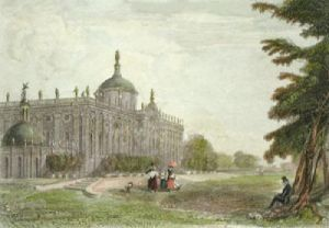 The New Palace Potsdam (Restrike Etching) by Anonymous