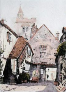 Canterbury, Kent (Restrike Etching) by Anonymous