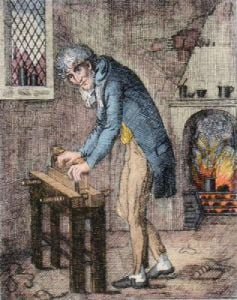The Bookbinder (Restrike Etching) by Anonymous