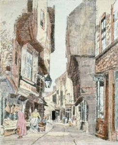 York, The Shambles (Restrike Etching) by Anonymous