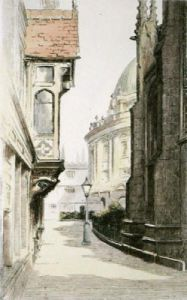 Oxford, St Marks Entrance (Restrike Etching) by Anonymous
