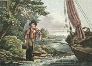 The Fisherman Going Out (Restrike Etching) by Anonymous