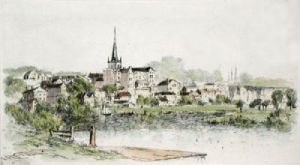 Ross-on-Wye (Restrike Etching) by Anonymous
