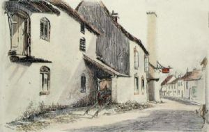 The Bell Inn, Caerleon (Restrike Etching) by Anonymous
