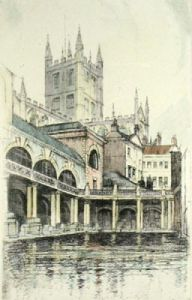 Bath (Restrike Etching) by Anonymous