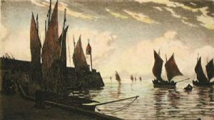 Sea Scapes Pl. V (Restrike Etching) by Anonymous