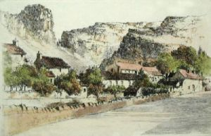 Cheddar Gorge (Restrike Etching) by Anonymous